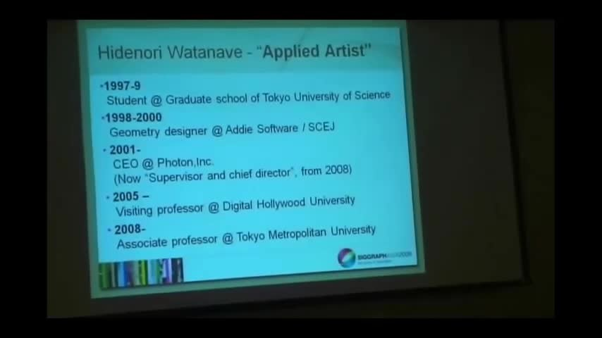 SIGGRAPH ASIA 2009 Education Talks #1